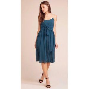 NWT BB DAKOTA Textured 'Take A Bow' Tie Midi Dress